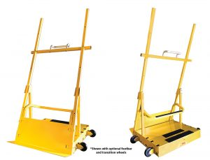 Scoop Dolly front and rear view, shown with optional wheels