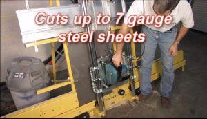saw trax panel saw cutting steel sheet