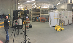 Setting up to video at Home Depot