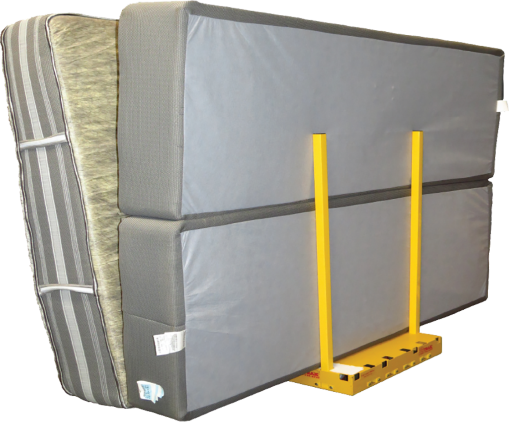 Yel-Low Safety Dolly Carries Mattresses Vertically